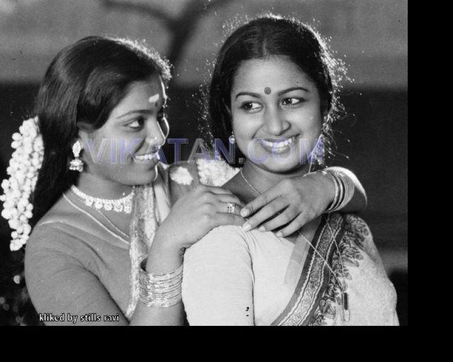 Tamil Actresses Saritha & Radhika Rare Pictures