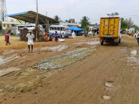 Image result for குளத்தில் பேருந்து நிலையம்